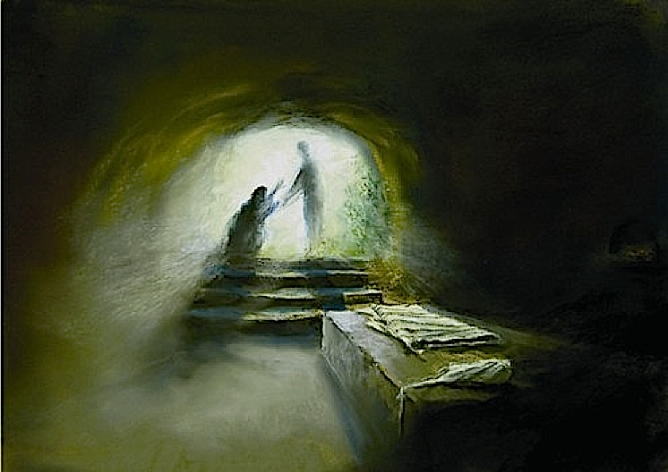 Image result for Christ is risen empty tomb