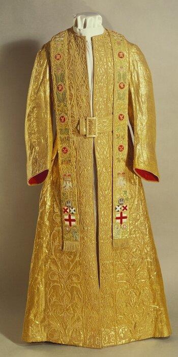 Coronation dalmatic worn by King George V and Queen Elizabeth II.